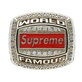 シュプリーム/SUPREME サイズ:18号 【21SS】【Jostens World Famous Champion Ring】ワールドフェイマスチャンピオンリング(シルバー×クリア/35.37g)【OM10】【小物】【225012】【中古】bb51#rinkan*S