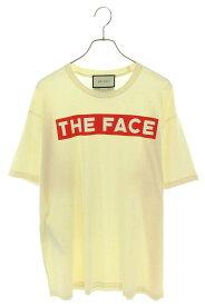 グッチ/GUCCI サイズ:L 【19AW】【539081-XJBH8】THE FACE プリント Tシャツ(ベージュ)【SB01】【メンズ】【レディース】【208012】【中古】bb198#rinkan*A