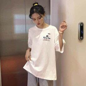● 大きいサイズ レデイース 春夏新作 732166 韓国 レデイース ファッション Tシャツ20200219