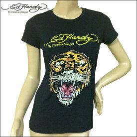 Ed Hardy エドハーディー レディース ベーシック タイガー Tシャツ ブラック Mサイズ