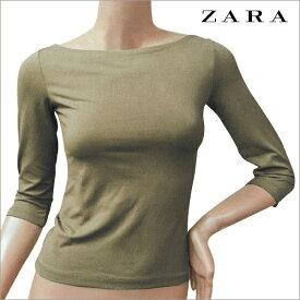 ZARA Ladies Boat neck Cut Sew ザラ ボートネック 七分袖  カットソー