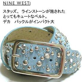 NINE WEST Women's Rhinestone & Studs Belt ナインウエスト レディース ラインストーン&スタッズ付き ベルト