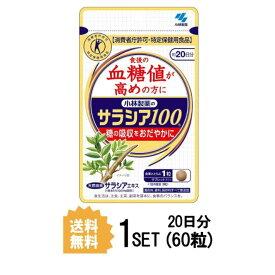 【送料無料】 小林製薬 サラシア100 約20日分 (60粒) ダイエットサプリメント 特定保健用食品