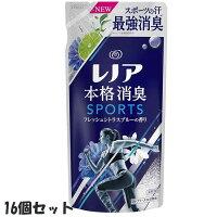 【16個セット】P&Gレノア本格消臭柔軟剤スポーツフレッシュシトラスブルー詰め替え400mLつめかえ用400mL×16個セット柔軟剤