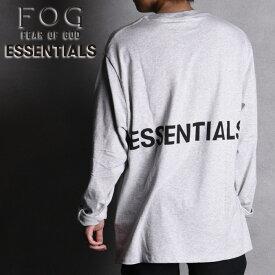 FOG ESSENTIALS エフオージー フォグ エッセンシャルズ LS TEE メンズ Tシャツ クルーネック 長袖 プリント ロゴ ルーズ ビッグT FEAR OF GOD フィアオブゴッド XS-XL