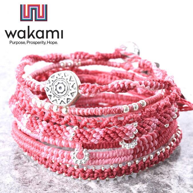 wakami ワカミ Earth Bracelet 7 Strand メンズ レディース アース ブレスレット 7ストランド 7連ブレス 7本セット ワックスコード メタルビーズ WA-BC18004