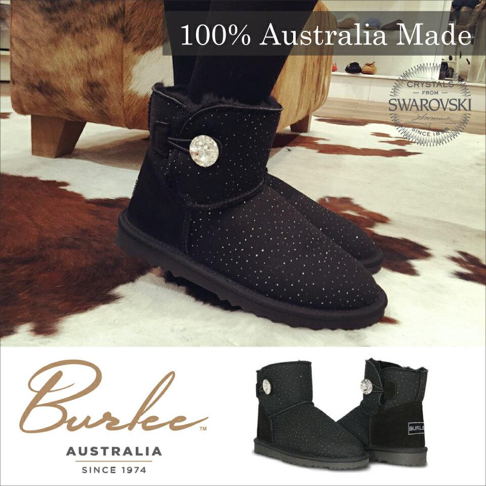 【Burlee Australia】Vinus Luxe Mini スワロフスキー ムートンブーツ レディ−ス UGG アグショート ブーツ 日本初上陸 送料無料 リアルムートン あったかい 本革 ショート mini