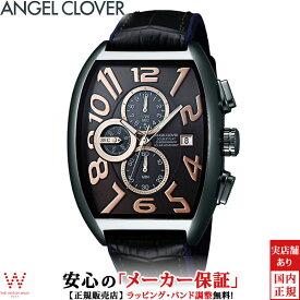 エンジェルクローバー [Angel Clover] ダブルプレイ ソーラー [Double Play Solar] メンズ 腕時計 ブラック クロノグラフ 日付表示 トノー型 DPS38GY-BK [誕生日 プレゼント 贈り物 ギフト]