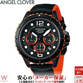 エンジェルクローバー [Angel Clover] タイムクラフト ダイバー [TIME CRAFT DIVER] メンズ 腕時計 ソーラー クロノグラフ 日付 TCD45BK-BK [誕生日 プレゼント 贈り物 ギフト]