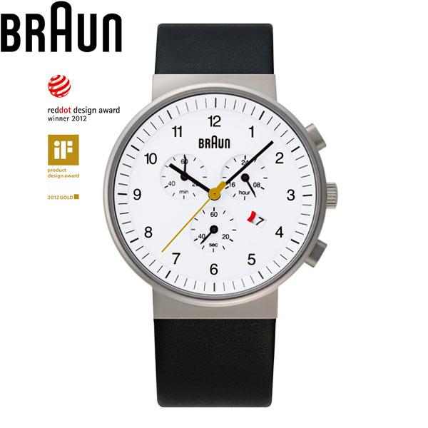 ブラウンショッピングローン無金利対象品ブラウン[BRAUN] BNH0035WHBKG メンズ レディース レザーバンド【腕時計 時計】【ギフト プレゼント】