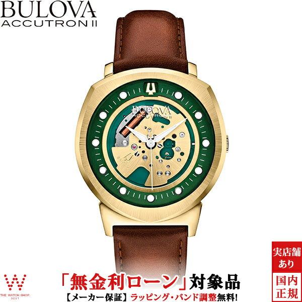 【無金利ローン可】ブローバブローバ アキュトロン2[BULOVA ACCUTRON II] ALPHA2014[アルファ2014] 97A110 カーフレザー【腕時計 時計】【ギフト プレゼント】