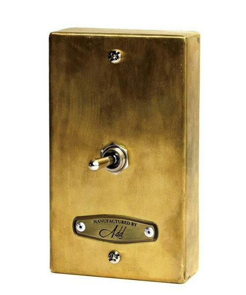 GoodyGrams-ADD RUSTY SWITCH BOX/ラスティースウィッチボックス【電気スイッチフレーム】ゴールド
