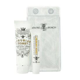 マインビーチ(MAINE BEACH) リグリアンハニーシリーズ Essentials DUO Pack(リップバーム・ミニハンドクリーム) LIGURIAN HONEY(正規品)(送料無料)(地域により配送方法が変わります)(オーガニック)