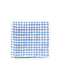 fog linen workリネンハンカチ ブルーホワイトチェックBLUE WHITE CHECK 【メール便OK】(フォグリネンワーク)