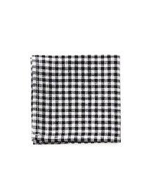 fog linen workリネンハンカチ ブラックホワイトチェックBLACK WHITE CHECK 【メール便OK】(フォグリネンワーク)