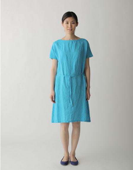 fog linen work 【FLW】 レイ ドレス ターコイズ 【送料無料】【フォグリネン】