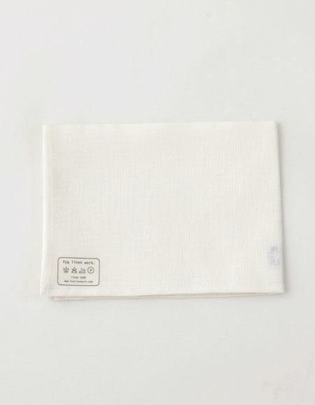 fog linen work リネンキッチンクロス ホワイト 【フォグリネンワーク】【メール便送料無料】
