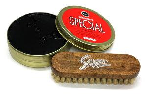 久保田スラッガー&コロンブス ブラシ(BL-1)と靴墨(SHOE CREAM)セット スパイク磨きに用 GTK