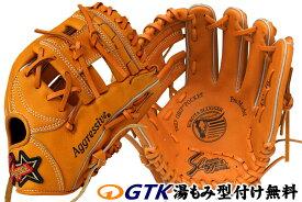 久保田スラッガー 少年軟式用グローブ KSN-J6 オレンジ ジュニア用では中間サイズモデル エッジ付きウェブの内野向けモデル J号球対応 学童 子供用 プレゼント 野球用品 GTK