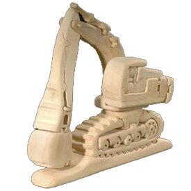 ラッピング無料 立体パズル 木製 ドルフィ DOLFI イタリア製 「パワーショベル」 無垢材 手作り 木彫り おもちゃ クリスマス 誕生日 プレゼント ギフト 男の子 女の子 車や動物や恐竜 かわいいデザイン 軽量で柔らかトゲが出ない西洋菩提樹 4才以上対象