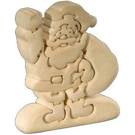 ラッピング無料 立体パズル 木製 ドルフィ DOLFI イタリア製 「サンタクロース」 無垢材 手作り 木彫り おもちゃ クリスマス 誕生日 プレゼント ギフト 男の子 女の子 車や動物や恐竜 かわいいデザイン 軽量で柔らかトゲが出ない西洋菩提樹 4才以上対象