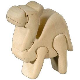 ラッピング無料 立体パズル 木製 ドルフィ DOLFI イタリア製 「ラクダ」 無垢材 手作り 木彫り おもちゃ クリスマス 誕生日 プレゼント ギフト 男の子 女の子 車や動物や恐竜 かわいいデザイン 軽量で柔らかトゲが出ない西洋菩提樹 4才以上対象