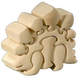ラッピング無料 立体パズル 木製 ドルフィ DOLFI イタリア製 「ディノザウルス」 無垢材 手作り 木彫り おもちゃ クリスマス 誕生日 プレゼント ギフト 男の子 女の子 車や動物や恐竜 かわいいデザイン 軽量で柔らかトゲが出ない西洋菩提樹 4才以上対象