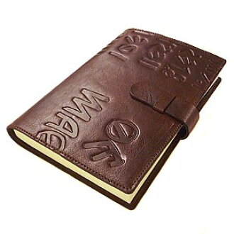 Officina Libris leather made in Italy M not cover A5 size refill with product number:off-r102-iku-antique