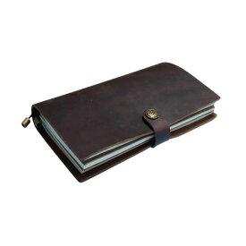 GuCra グクラ 本皮手帳 ノート 持ち運びに便利な大きさ 本皮 スモーキーブラウン サイズ:22x12x3cm