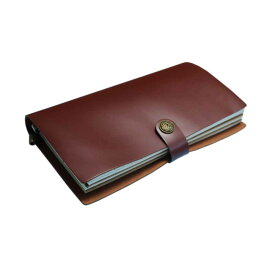 GuCra グクラ 本皮手帳 ノート 持ち運びに便利な大きさ 本皮 ブラウン サイズ:22x12x3cm