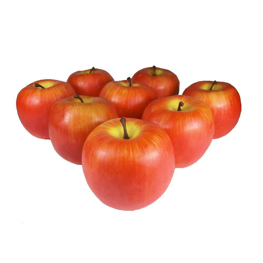 りんご 本物そっくりな模型 8個セット 食品サンプル 果物模型 (赤II)