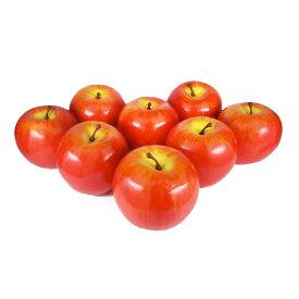 GuCra グクラ りんご 本物そっくりな模型 8個セット 食品サンプル 果物模型 (赤II軽量タイプ)