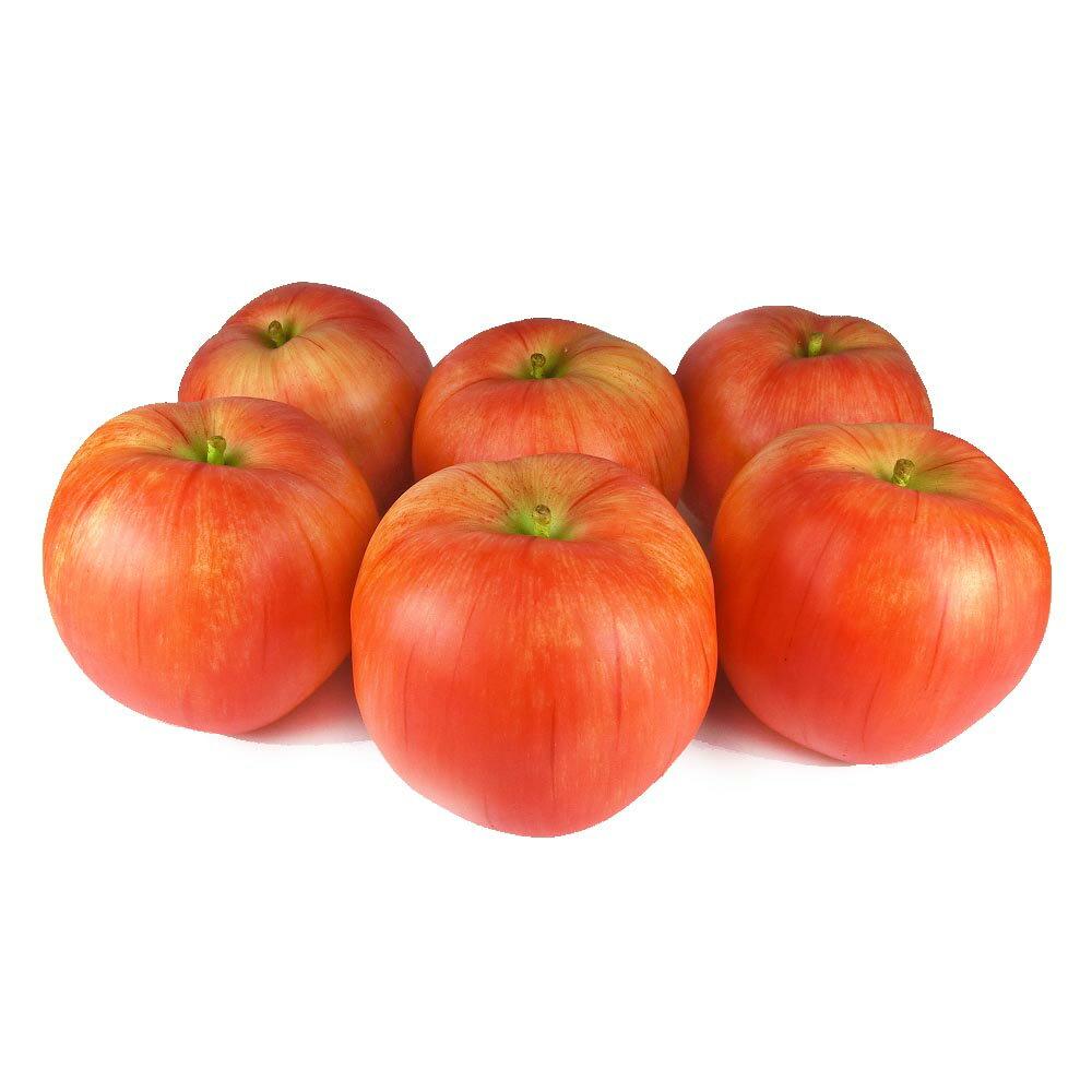 りんご 本物そっくりな模型 6個セット 食品サンプル 果物模型 (ラージ)