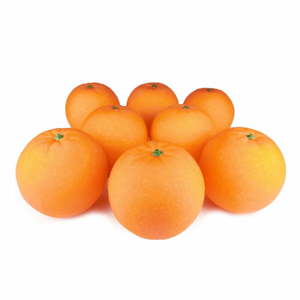 オレンジ 本物そっくりな果物模型 8個パック 食品サンプル