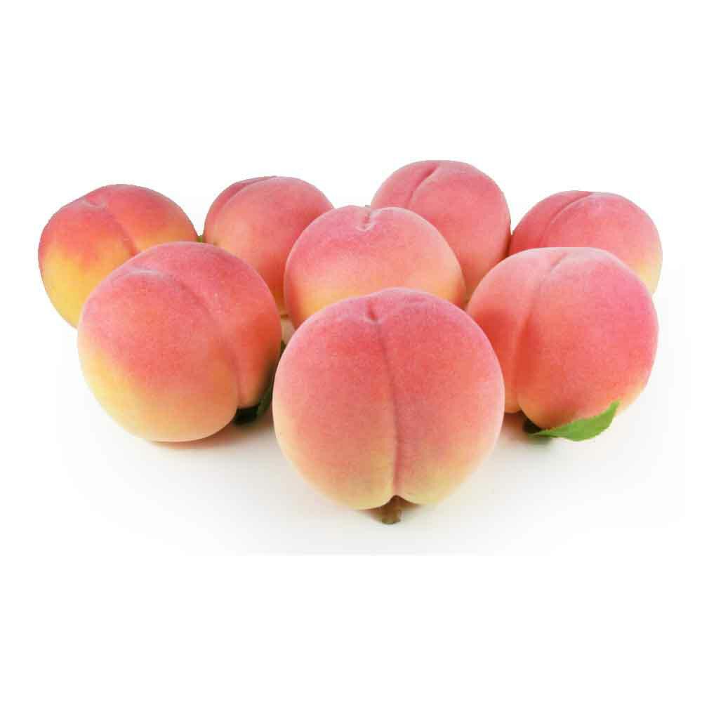 桃 本物そっくりな模型 8個セット 食品サンプル 果物模型 軽量タイプ
