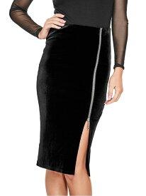 【SALE/72%OFF】(W)JESSA VELVET HW MIDI SKIRT GUESS ゲス スカート スカートその他 ブラック レッド【RBA_E】[Rakuten Fashion]