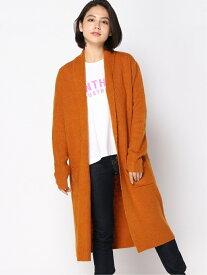 【SALE/50%OFF】(W)ROSETTE DUSTER GUESS ゲス ニット カーディガン オレンジ カーキ ブラック【RBA_E】[Rakuten Fashion]