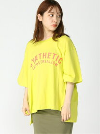 【SALE/50%OFF】(W)Synthetic Logo Loose-Fit Tee GUESS ゲス カットソー Tシャツ イエロー グレー ホワイト【RBA_E】[Rakuten Fashion]