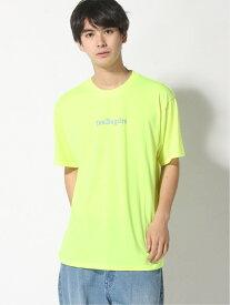 【SALE/50%OFF】(M)NEON PRINT TEE GUESS ゲス カットソー Tシャツ イエロー グリーン【RBA_E】[Rakuten Fashion]