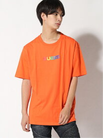 【SALE/70%OFF】(M)SS J. BALVIN GUESS SMILE TEE GUESS ゲス カットソー Tシャツ オレンジ グリーン ブラック ベージュ【RBA_E】[Rakuten Fashion]