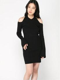 【SALE/79%OFF】(W)Ls Cross Neck Nina Dress GUESS ゲス ワンピース ワンピースその他 ブラック【RBA_E】[Rakuten Fashion]