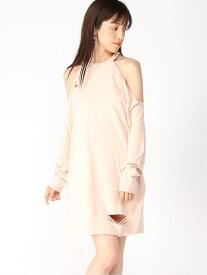 【SALE/78%OFF】(W)TIA COLDSHOULDER DRESS GUESS ゲス ワンピース ワンピースその他 ピンク【RBA_E】[Rakuten Fashion]
