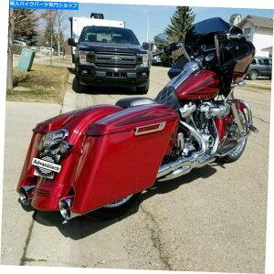 サイドバック ハードキャンディーホットロッド赤いフレーク拡張バッグハーレー2014+のためのサドルバッグ Hard Candy Hot Rod Red Flake Extended Bags Stretched Saddlebag For Harley 2014+