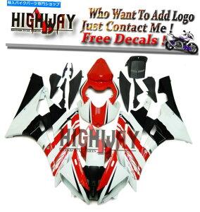 フェアリング ヤマハYZF-R6 06 07 2007 ABSフェアリングキットボディワークエニオ赤ホワイト N Fairings For Yamaha YZF-R6 06 07 2007 ABS Fairing Kit Bodywork Eneos Red White