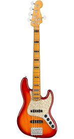 Fender USA(フェンダー)American Ultra Jazz Bass V Plasma Red Burst(Ash)