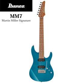 Ibanez MM7 -TAB(Transparent Aqua Blue)- 新品[アイバニーズ][Martin Miller,マーティン・ミラー][ブルー,青][Electric Guitar,エレキギター]
