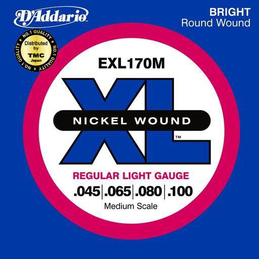 D'Addario 45-100 EXL170M Regular Light ミディアムスケール[ダダリオ][レギュラーライト][Medium Scale][Nickel Round Wound,ニッケルラウンドワウンド][Super Long Scale][ベース弦,String]