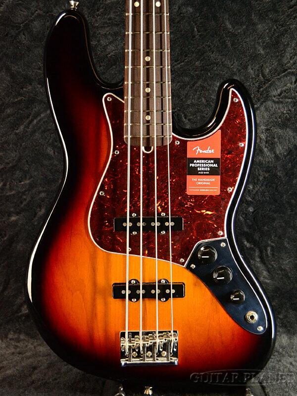 "Fender USA American Professional Jazz Bass -3 Color Sunburst/Rosewood- ""PG Mod"" 新品[フェンダー][アメリカンプロフェッショナル][ジャズベース][サンバースト][Electric Bass,エレキベース]"