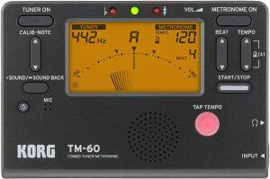 KORG TM-60 BK ブラック 新品 チューナー/メトロノーム[コルグ][TM60][黒][Tuner][Metronome]