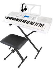ONETONE OTK-61S WH《スタンド・椅子・ヘッドフォン付!》 新品 キーボード[ワントーン][61鍵盤][Keyboard,Digital Piano,電子ピアノ,デジタル,エレピ][OTK61S]